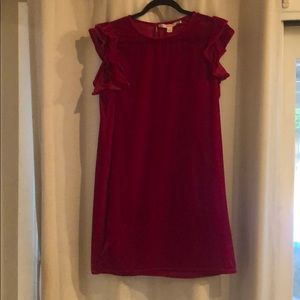 Chelsea &v Violet red velvet dress  size M